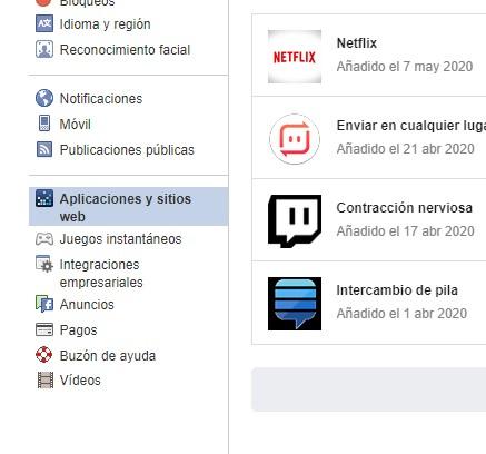 borrar aplicaciones facebook paso3