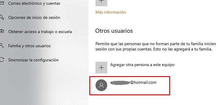 Nueva cuenta en Windows 10