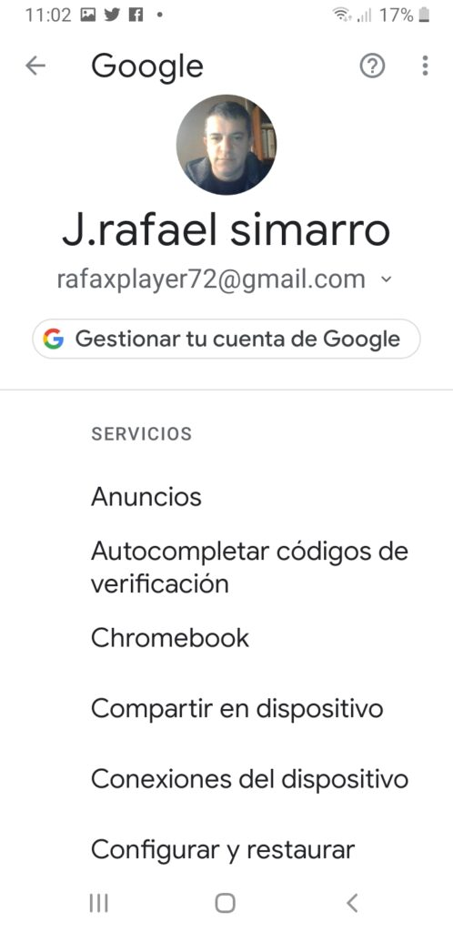 perfil google android
