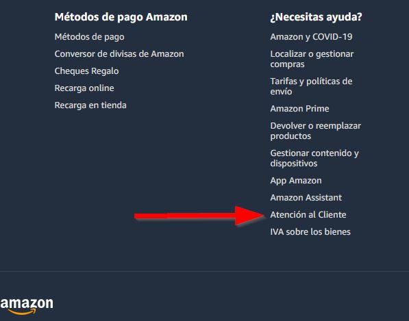 Amazon atencion al clienta