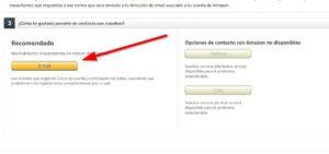 Amazon ayuda Email