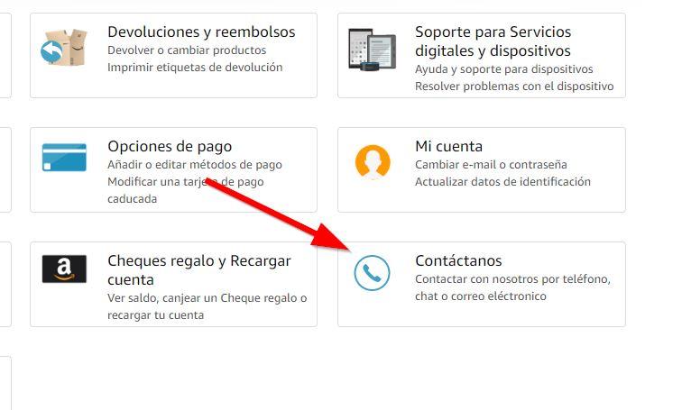 Amazon contactanos