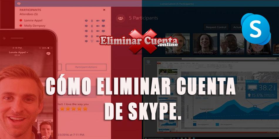 Eliminar cuenta Skype