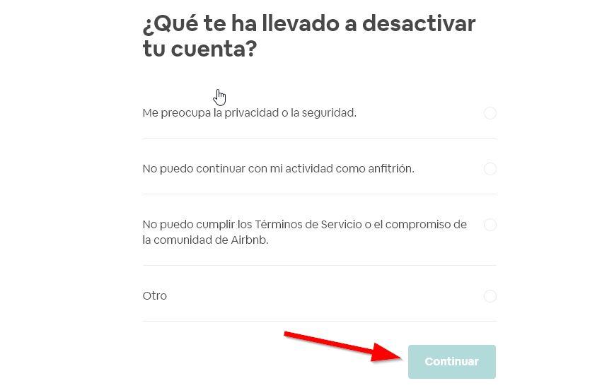 Eliminar mi cuenta de airbnb