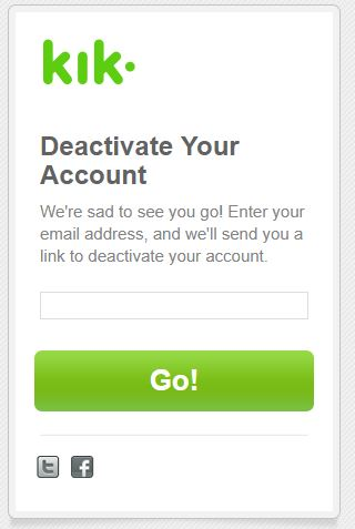 Deactivate Your Account kik