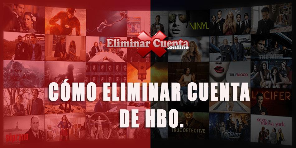Eliminar cuenta HBO