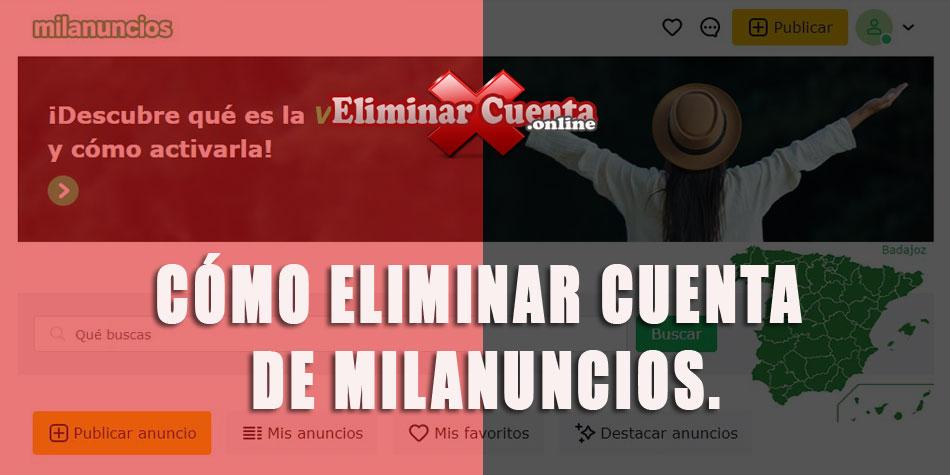eLIMINAR CUNETA DE MIL ANUNCIOS