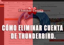 Eliminar cuenta de Thunderbird